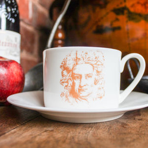 Isaac Newton Cup And Saucer