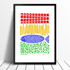 'Fish And Chips' Ltd Edition Print Framing Available - food & drink prints