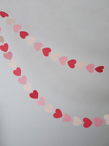 Hand Made Heart Garland - bunting & garlands
