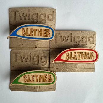 Blether, Scottish Words, Speech Bubble Badge