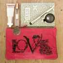Personalised Leather Love Clutch