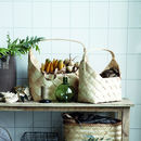 Wooden Natural Basket Tote
