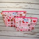 Animal Love Heart Woodland Forest Makeup Wash Bag