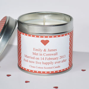 Personalised 'Anniversary' Candle - candles & candlesticks