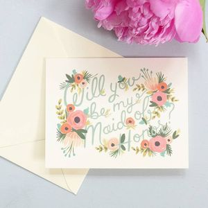 Will You Be My Maid Of Honour Card - cards