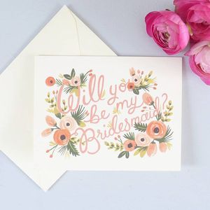 Will You Be My Bridesmaid Card - wedding cards & wrap