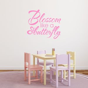 Blossom Like A Butterfly Vinyl Wall Sticker - sale by room