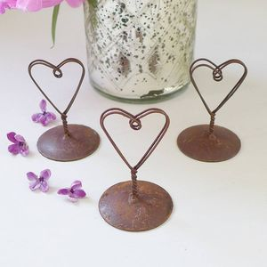 Wire Heart Place Card Holder - table decorations
