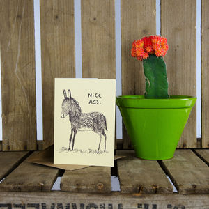 'Nice Ass' Greeting Card - shop by occasion
