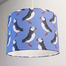 Handmade Green Or Blue Puffin Lampshade