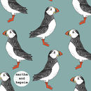 Green Puffin Lampshade