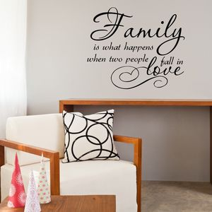 Family Love Quote Vinyl Wall Sticker