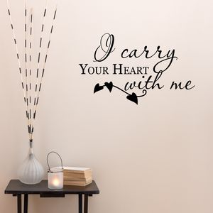 Carry Your Heart Vinyl Wall Sticker - wall stickers