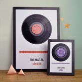 Personalised Vinyl Record Framed Song Print - black friday sale