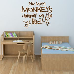 No Jumpin' On The Bed Wall Sticker - decorative accessories