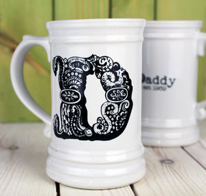 Personalised Monogrammed Ceramic Tankard - crockery & chinaware