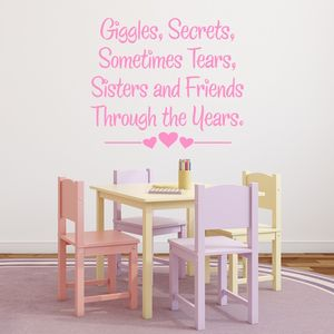 Sisters And Friends Quote Wall Sticker