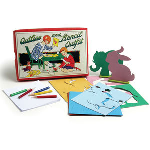 Stencil And Outline Drawing Kit - toys & games