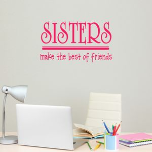 Sisters Quote Vinyl Wall Sticker