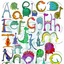 Personalised Dinosaur Name Print Alphabet