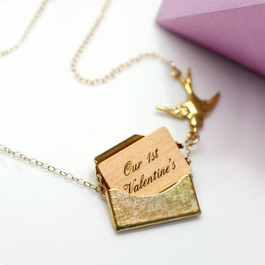 Personalised Mini Love Letter Necklace - gifts for her