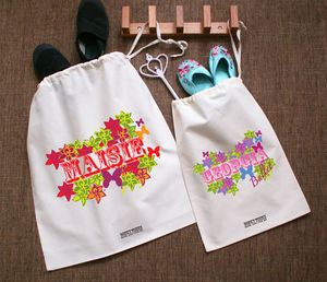 P.E Kit Bag Flower Design