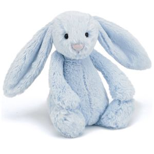 Bunny Luxury Large Blue Cuddly Toy - toys & games