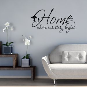 Our Story Begins Vinyl Wall Sticker - wall stickers