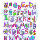 Personalised Animal Name Print Alphabet Pink/Purple Colourway