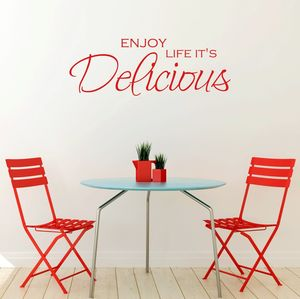 Enjoy Life Quote Vinyl Wall Sticker - wall stickers