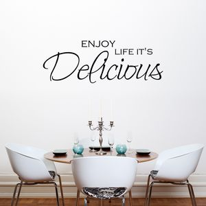 Enjoy Life Quote Vinyl Wall Sticker