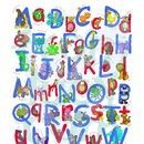 Personalised Animal Name Print Alphabet Red/Blue Colourway