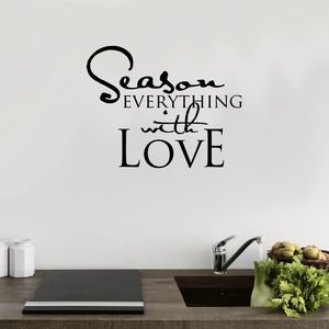Season Everything With Love Wall Sticker - view all