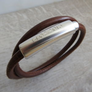 Personalised Leather Francis Bracelet - bracelets & bangles