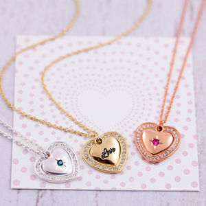 Double Heart Necklace On Gift Card