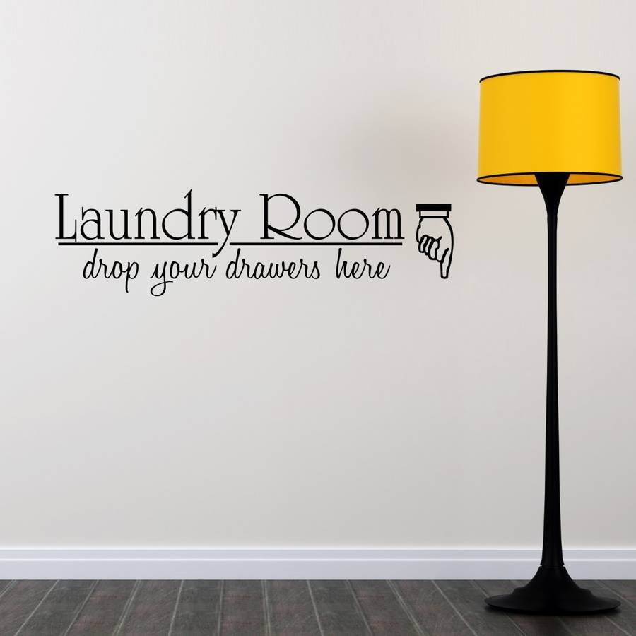 Laundry Room Quote Wall Sticker
