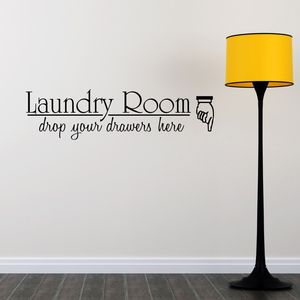 Laundry Room Quote Wall Sticker - wall stickers