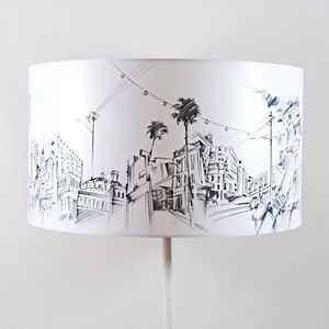 Long Street Lampshade - bedroom