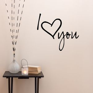 I Love You Vinyl Wall Sticker
