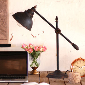 Industrial Steel Desk Table Lamp - statement lighting