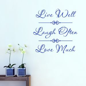Live Laugh Love Quote Wall Sticker - home