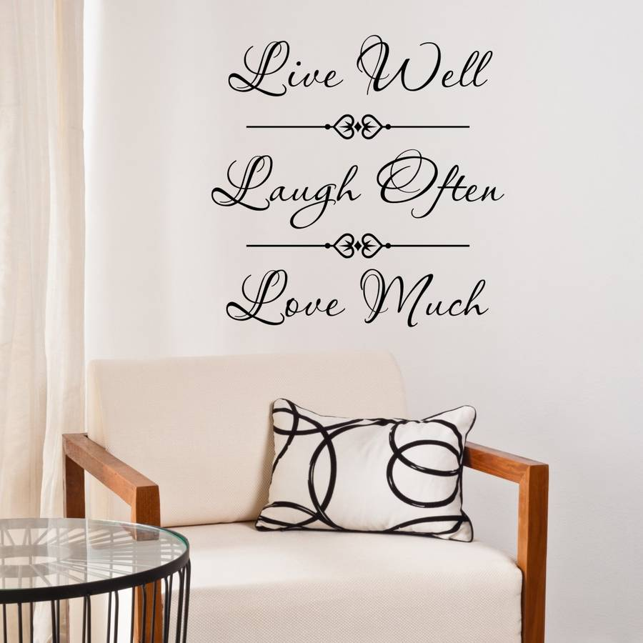 Live Laugh Love Quote Wall Sticker Part 97