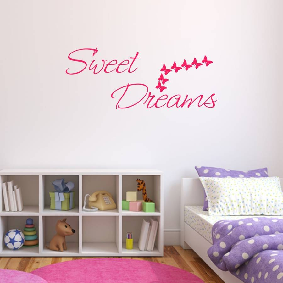Sweet dreams bedroom wall sticker by mirrorin notonthehighstreet sweet dreams bedroom wall sticker amipublicfo Gallery