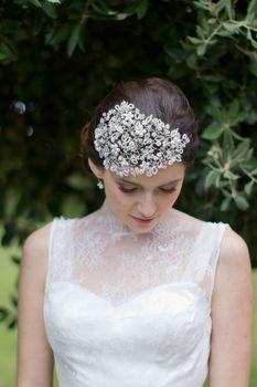 Vine Royal Pearl And Crystal Headdress