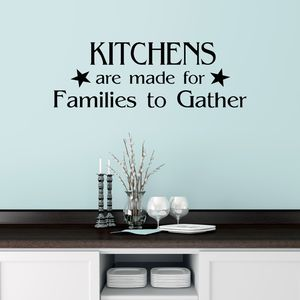 Families To Gather Quote Wall Sticker