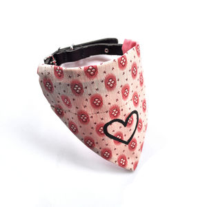 Love Heart Dog Neckerchief - dogs