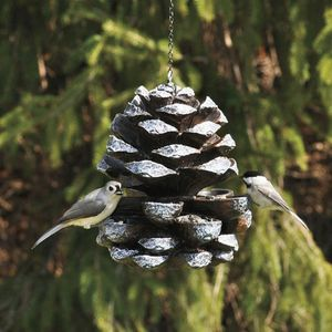 Cast Iron Effect Pine Cone Bird Feeder