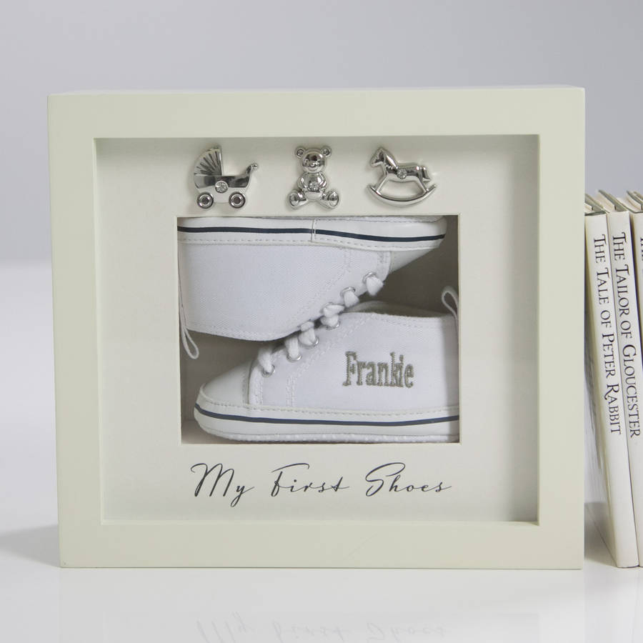 personalised my first shoes frame by my 1st years ...