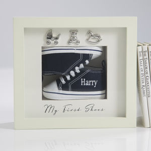 Personalised My First Shoes Frame