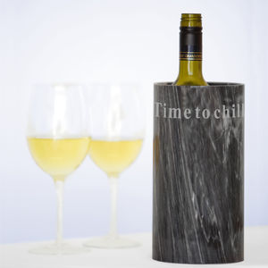 'Time To Chill' Marble Wine Cooler - drink & barware